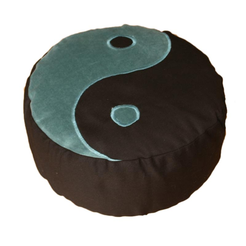 Yin Yang – Blauwgroen op zwart