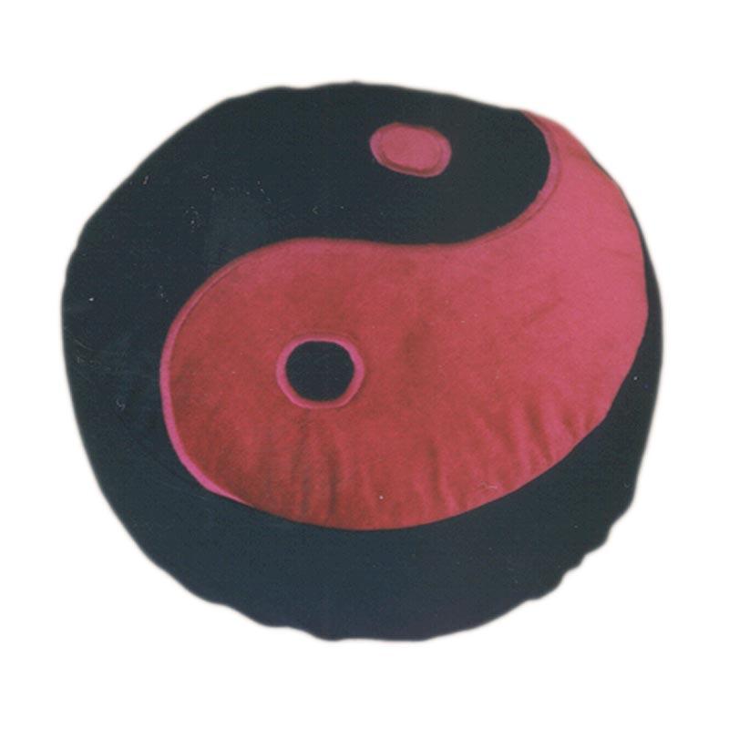 Yin Yang – Bordeaux op zwart