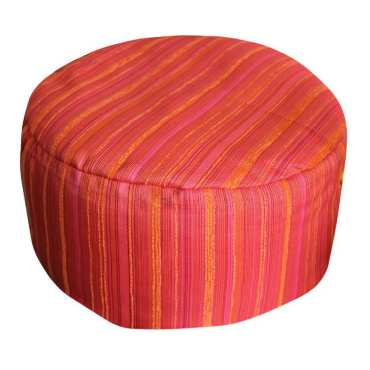 Rood, oranje en roze gestreept