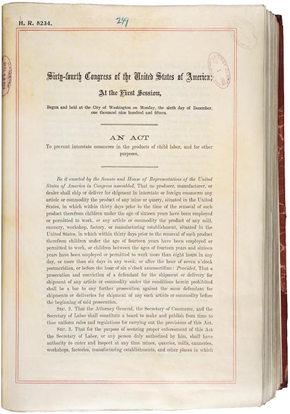 Keating-Owen Child Labor Act of 1916