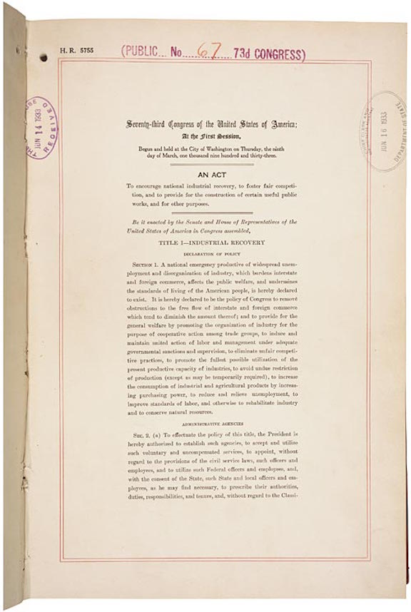 National Industrial Recovery Act (1933)
