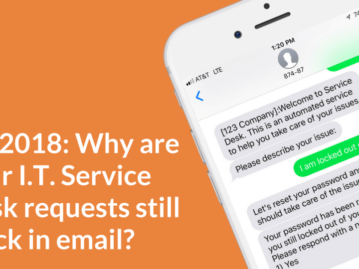 It's 2018: Why are your I.T. service desk requests still stuck in email?