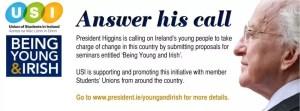 Answer President Higgins' Call