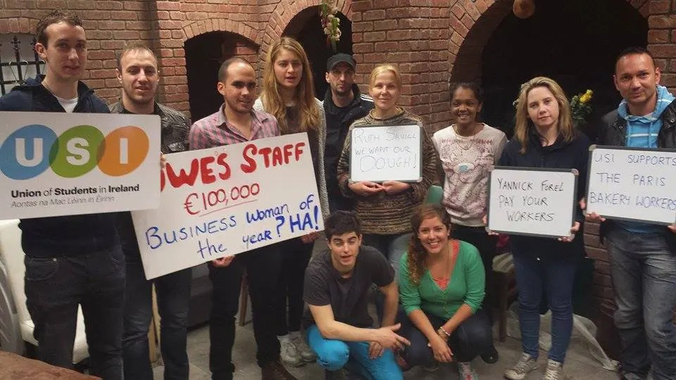 USI's O'Connor and Harmon join Paris Bakery protests