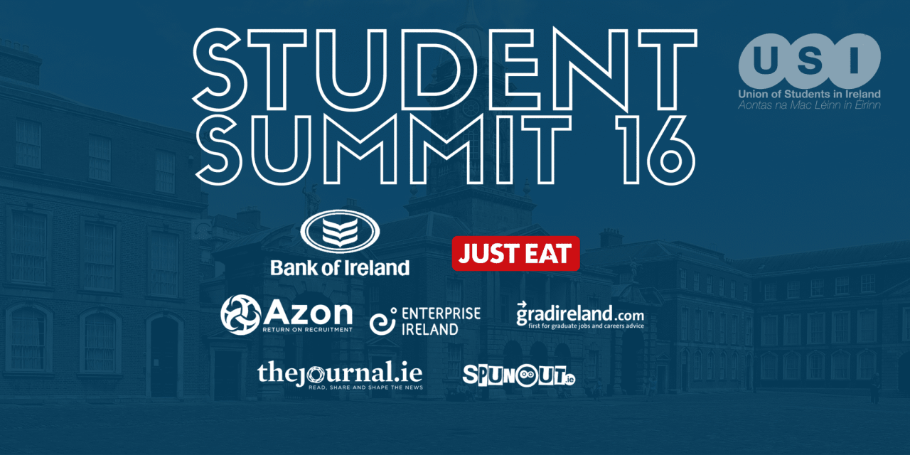 Student Summit 2016 Will Launch in Dublin Castle on the 4th February!