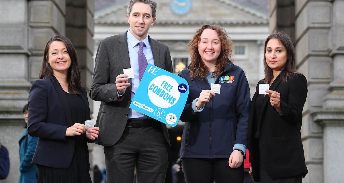 Minister Harris Launches National Condom Distribution Service in Third Level Colleges