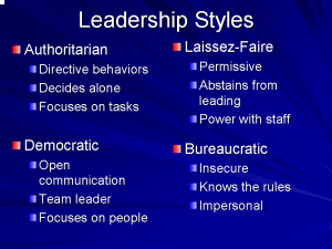 The Ideal Leadership Style Usifoa