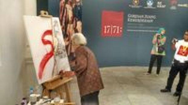 Goresan Jokowi Menjadi Lukisan