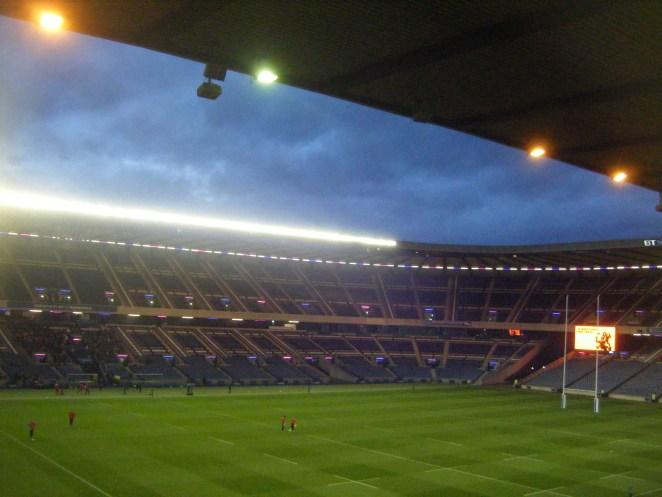 Murrayfield stadium looking stunnig.