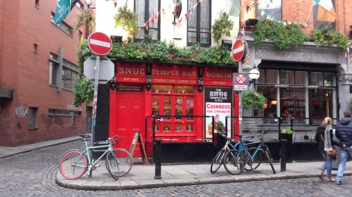 Temple Bar and its cosy pubs.