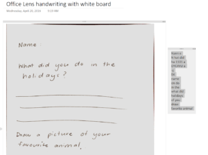 Office lens handwritten notes in OneNote