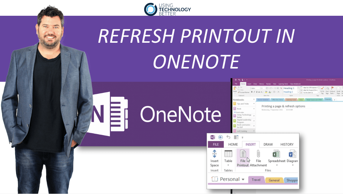 How to Refresh printout in OneNote