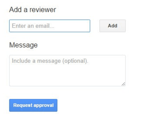 Request approval