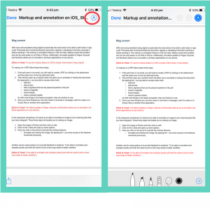 Markup and annotation on iOS