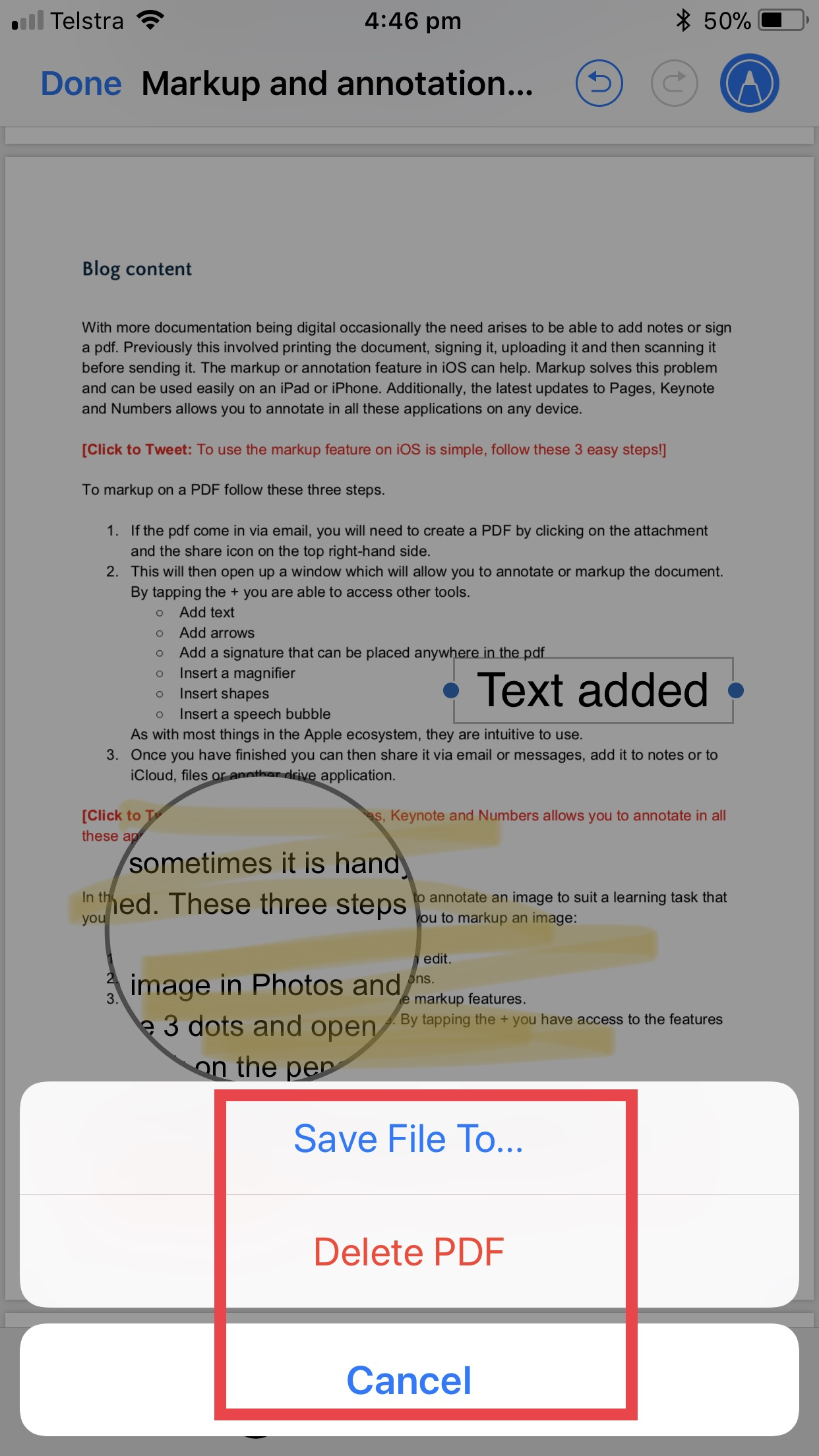 Markup and annotation on iOS_7