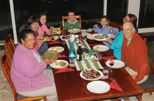 From left - Esther, Lisa, Anna, Sam, Maggie, Mirinda and Jack