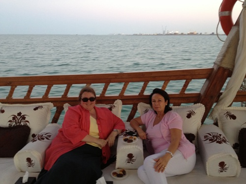 On the royal dhow with Eva