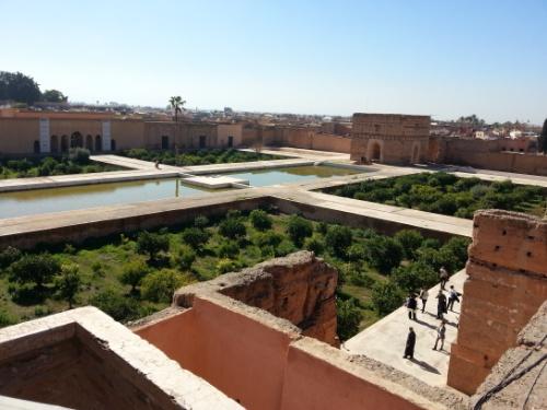 El Badi from the terrace
