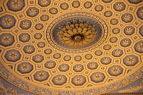 Part of the chapel ceiling