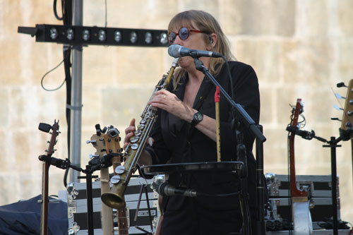 Rosie Short and her soprano saxophone