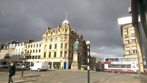 Looking up to George Street