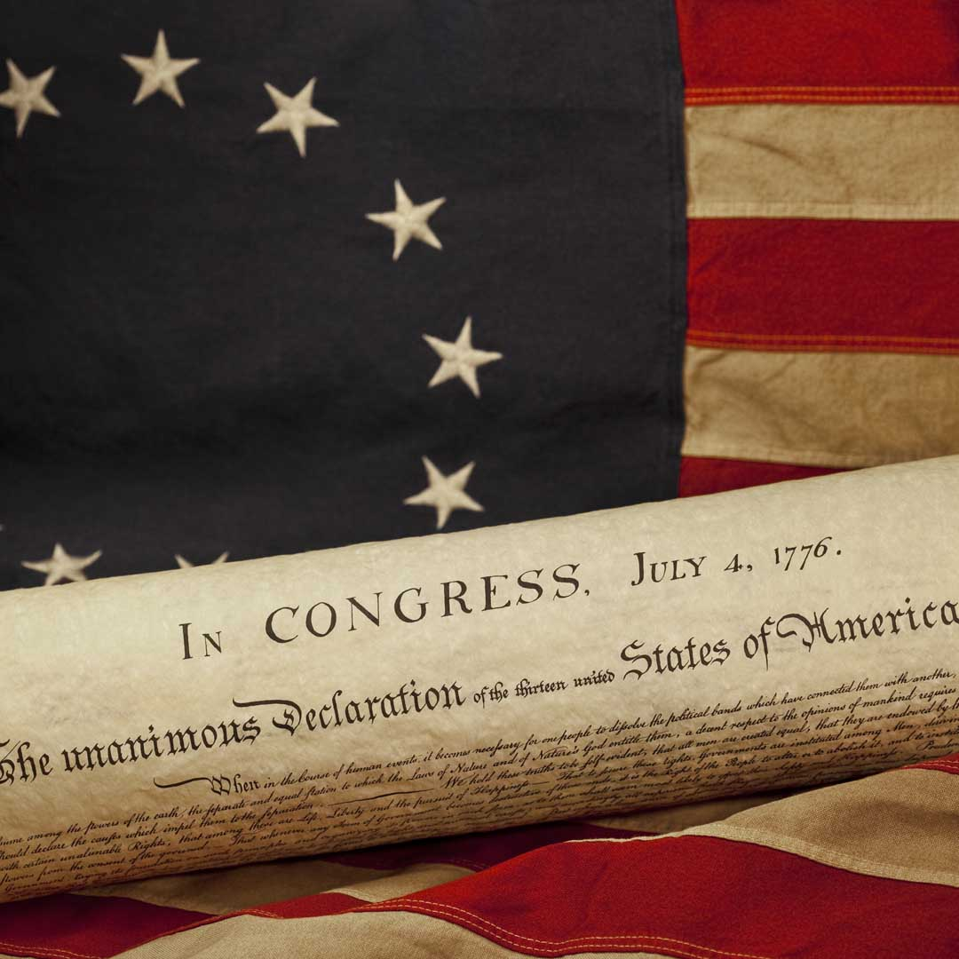 Celebrate Independence - Declaration and Betsy Ross Flag