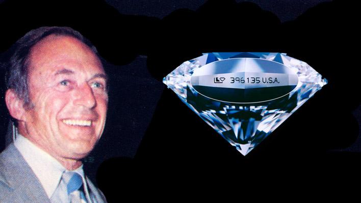 George Kaplan - laser inscribed diamond
