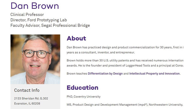 Inventor Nominee Dan Brown