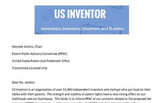 Open Letter to PPAC - US Inventor