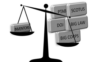 Patent Public Advisory Committee letter - inventor scales of justice