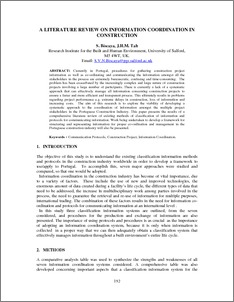 A Literature Review On Information Coordination In