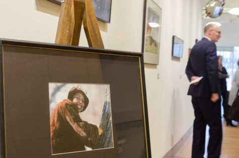 Memorial service honors late art administrative assistant
