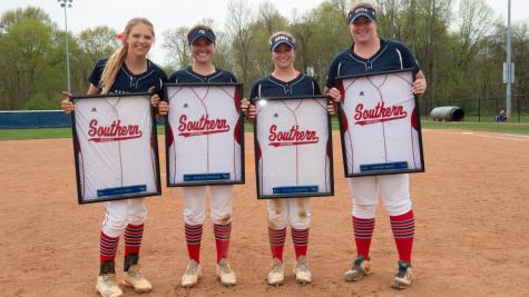 Softball senior day wins double header