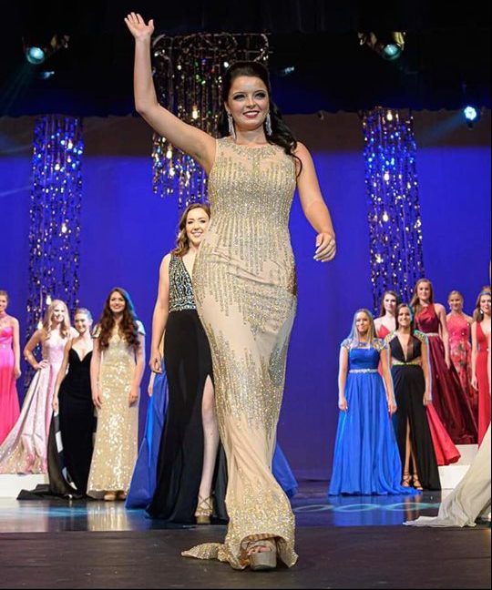 Callie Cessna, a junior social work major,  photographed at Miss Indiana which ran from June 9-15.