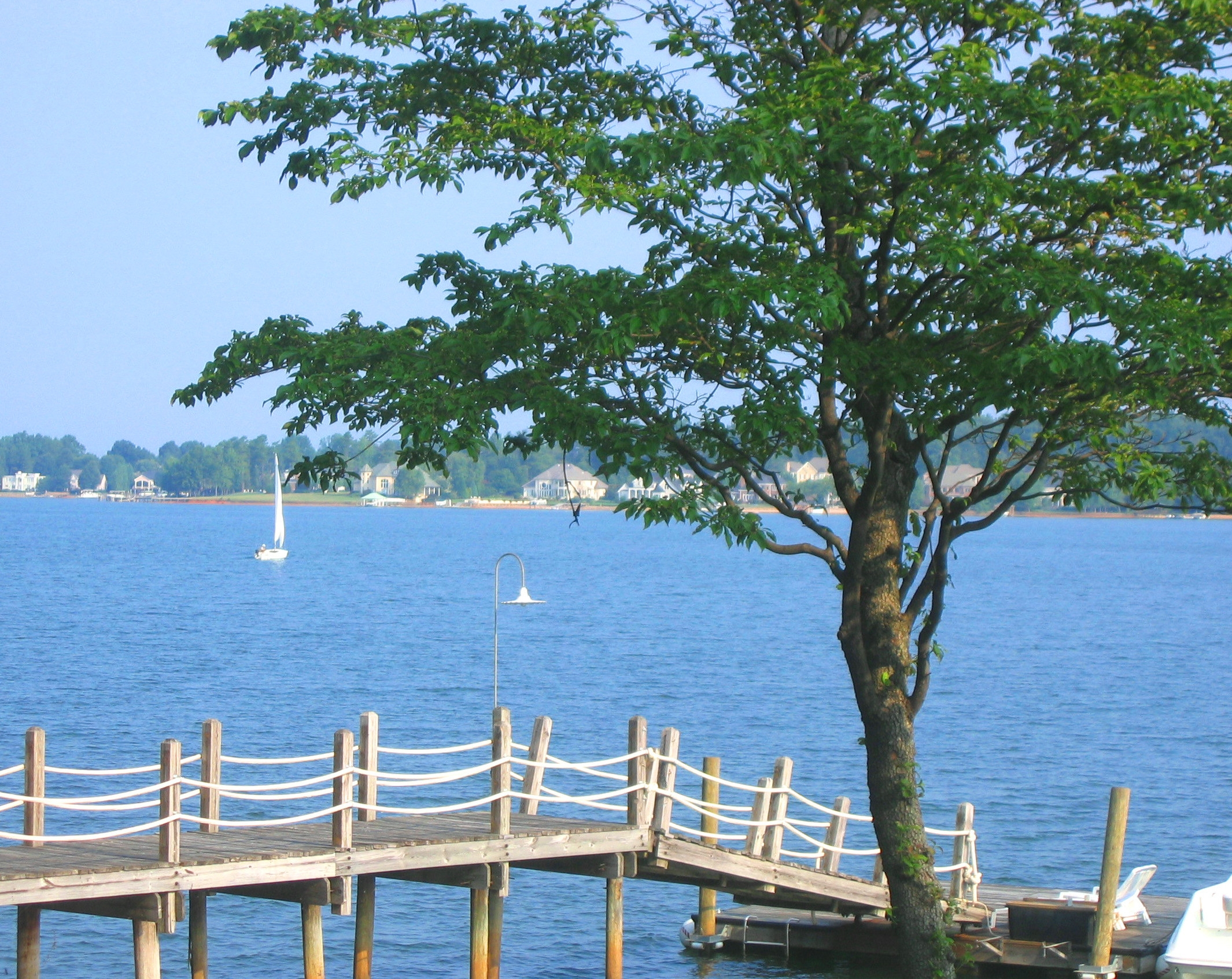 Lake Norman-morning pier view