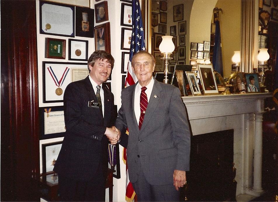 Sen. Thurmond in his office - 1993