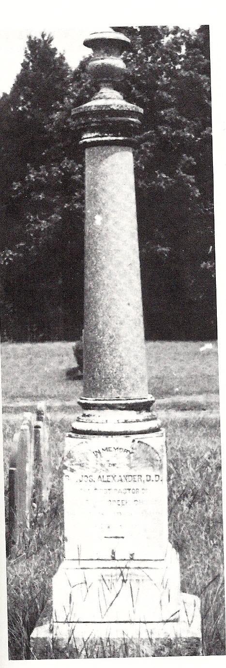 Rev. Alexander's grave at Bullocks Creek Pres. Church