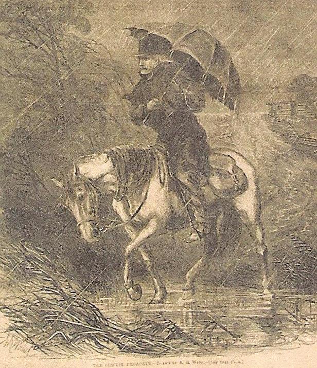 Preacher on horseback