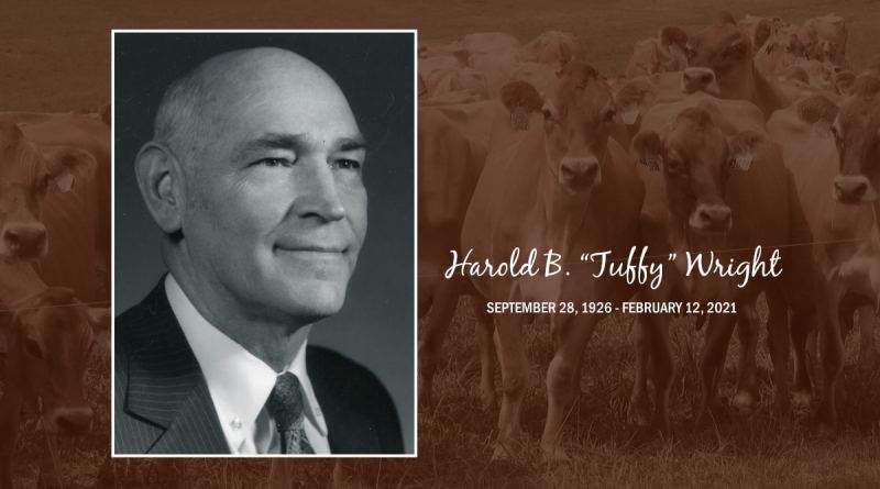 Distinguished Jersey Breeder Tuffy Wright Passes Away