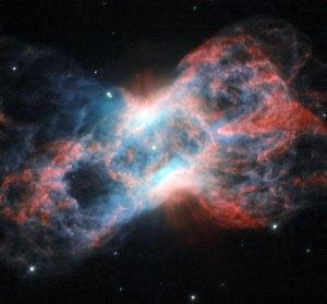 Tämä perhosta muistuttava sumu NGC 7026 löytyy Joutsenen tähtikuviosta. Se on syntynyt räjähtäneen tähden jäänteistä. Kuva: ESA Hubble.