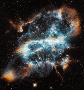 Tämä lohikäärmettä muistuttava sumu on NGC 5189. Kuva: ESA Hubble.