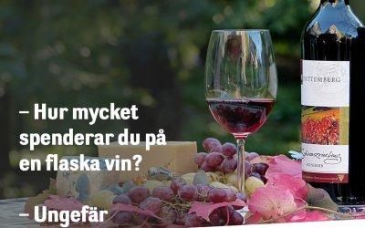 Hur mycket spenderar du på en flaska vin?