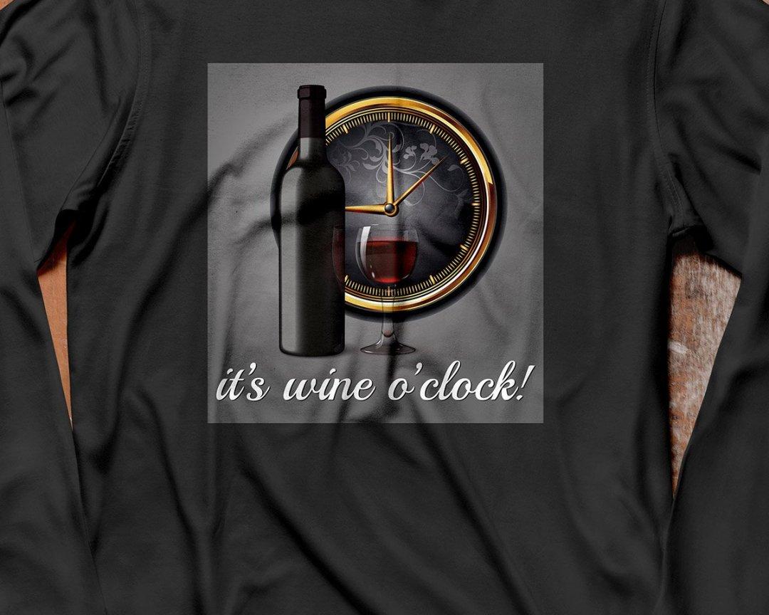 It's Wine o'clock - Långärmad tröja unisex