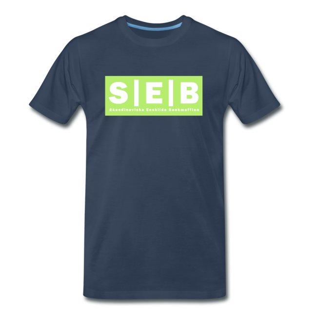 SEB - Skandinaviska Enskilda Bankmaffian-- Skandinaviska Enskilda Bankens rätta ansikte Premium T-shirt herr