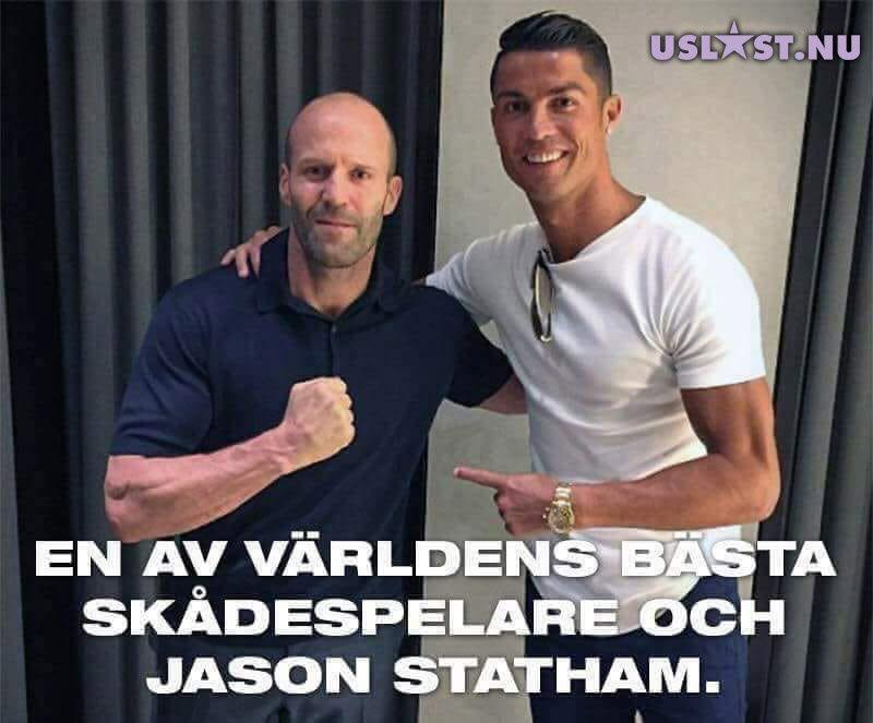 Christiano Ronaldo och Jason Statham