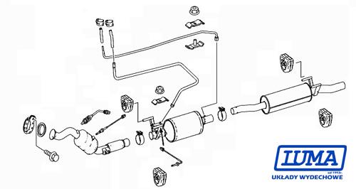 Filtr cząstek stałych DPF Katalizator Sprinter 906