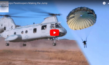 Marine Corps Paratroopers Making the Jump