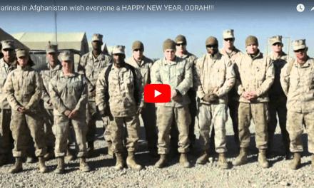 Marines in Afghanistan wish everyone a HAPPY NEW YEAR, OORAH!!!