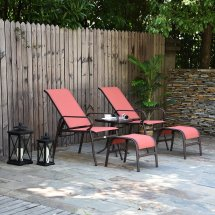 outsunny garden furniture set deck