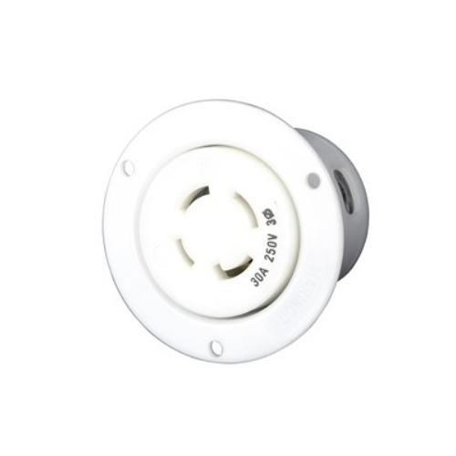 Order 3015FO by Marinco Standard NEMA Flanged Outlet, 30A